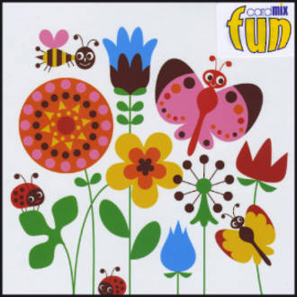 Blank Card General Fun Flowers Bees and Butterflies