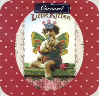 Blank Card Female Carousel Little Kitten