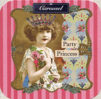 Blank Card Female Carousel Party Princess