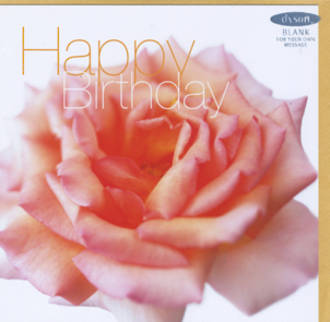 Female Birthday Card: Fab Flowers Peach Rose