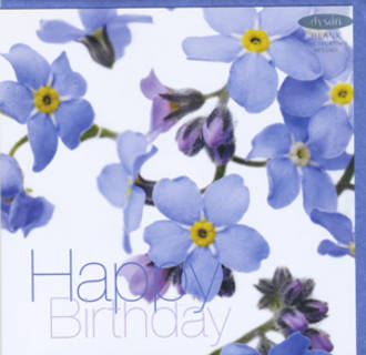 Female Birthday Card: Fab Flowers Forget Me Not