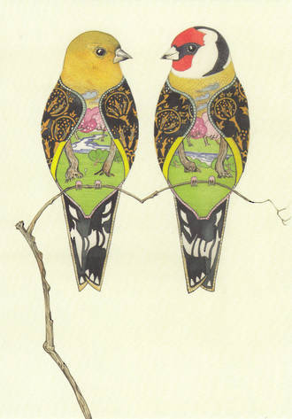 DM Collection Gold Finches