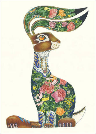 DM Collection Hare With Flowers