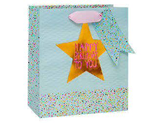 Medium Gift Bag Paper Salad Star Female