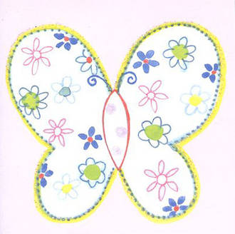 Mini Card Pink Butterfly
