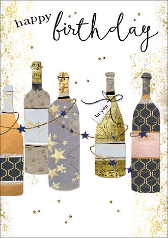 Gold Leaf Birthday Wine