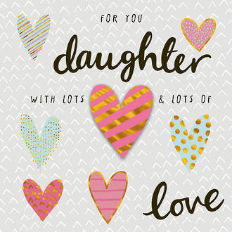 Daughter Birthday Card Hallmark With Lots and Lots Of Love