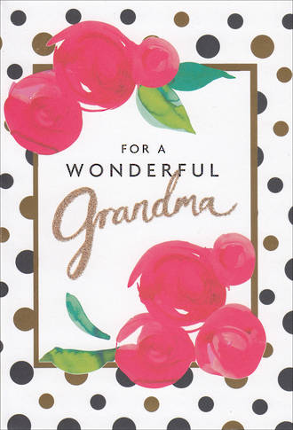 Grandmother Birthday Card Hallmark Dots