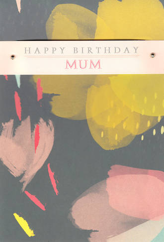 Mum Birthday Card Hallmark Large Watercolour