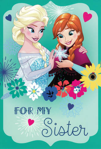 Sister Birthday Card Hallmark Frozen