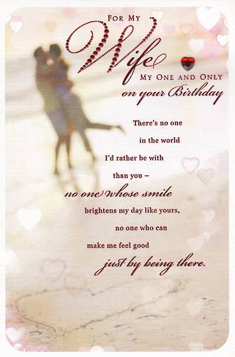 Wife Birthday Card Hallmark My One And Only