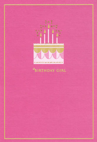 Birthday Card Female Hallmark Girl Cake