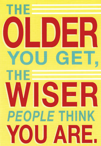 Hallmark Humorous Birthday Card Older Wiser