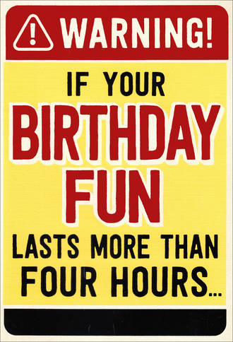 Hallmark Humorous Birthday Card Birthday Fun