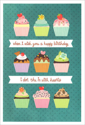 Birthday Card Teen Female Hallmark Cupcakes