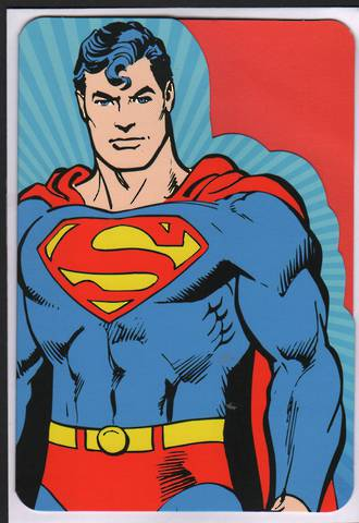 Kid's Birthday Card Boy Superman Diecut