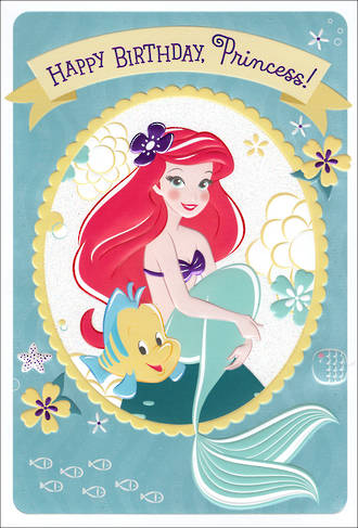Hallmark Kids' Birthday Card Girl Little Mermaid