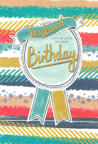 Husband Birthday Card Hallmark Ribbon