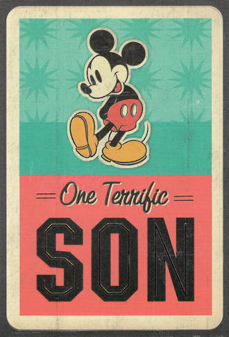 Son Birthday Card Hallmark Mickey Terrific