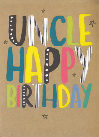 Uncle Birthday Card Brights