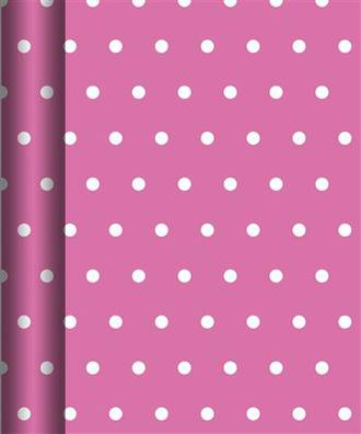 Roll Wrap Value Pink Dots Box Of 20, 3m