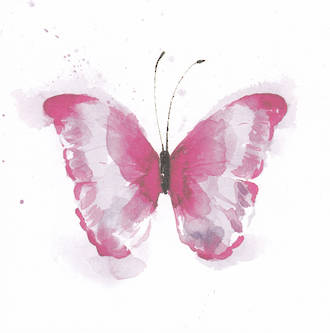 Hallmark Gallery III Sketchbook Pink Butterfly