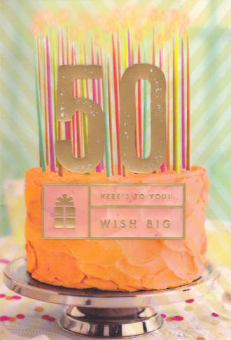 Birthday Age Card 50 Female Wish Big