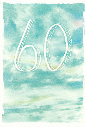 Birthday Age Card 60 Male Blue Sky