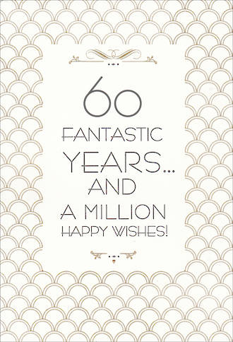 Birthday Age Card 60 Female Hallmark Large Wishes