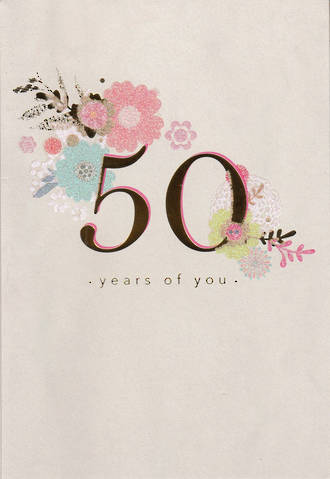 Birthday Age Card 50 Female Hallmark Floral