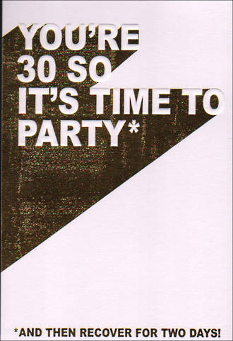 Birthday Age Card 30 Female Time To Party