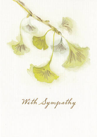 Sympathy Card Hallmark Ginko Leaves