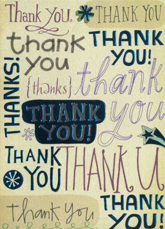 Thank You Card Hallmark Typographic