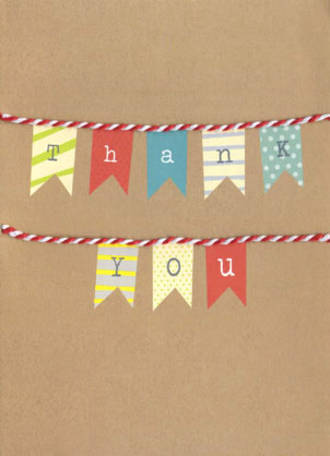 Thank You Card Hallmark Banner
