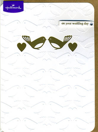 Wedding Card Hallmark Birds Embossed
