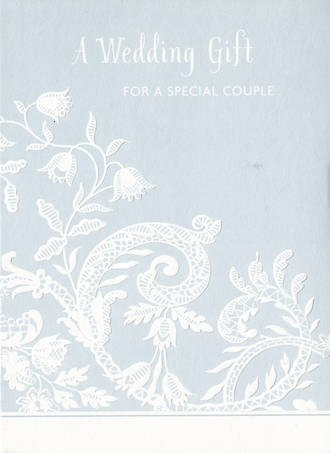 Wedding Card Hallmark Enclosure Embossed