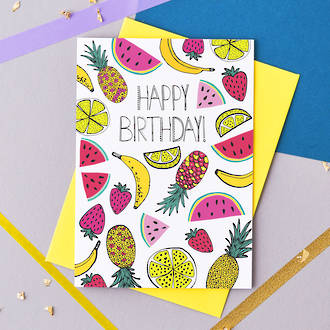Jessica Hogarth Happy Birthday Fruit