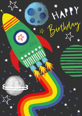 Artbox Birthday Space Rocket