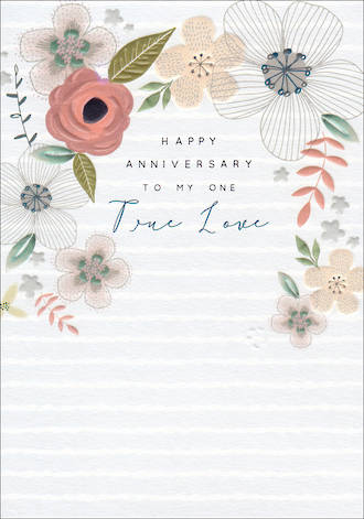 Anniversary Card Halcyon Our Anniversary True Love