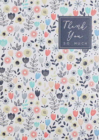 Thank You Card Halcyon Floral