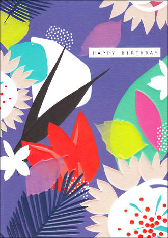 Rio Brights Birthday Abstract Flowers