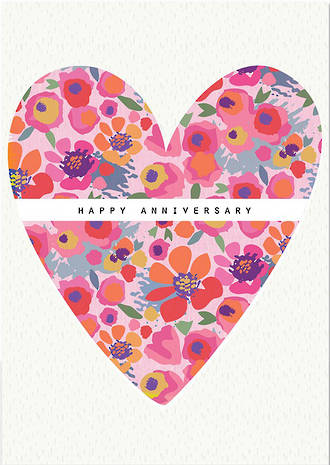 Anniversary Card Rio Brights Heart