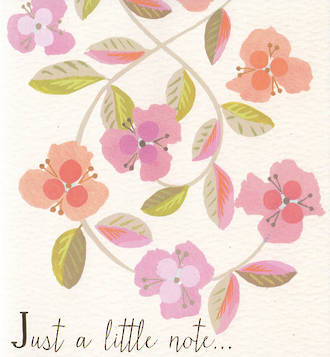 Liz & Pip Forget Me Not Little Note