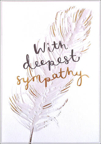 Sympathy Card Sweet & Simple Feather