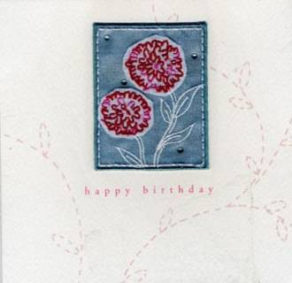 Female Birthday Card: Amelia Flowers