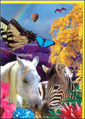 Blank Card General Fantasy Zebra