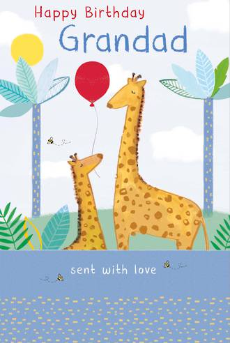 Grandad Birthday Card Giraffe With Love