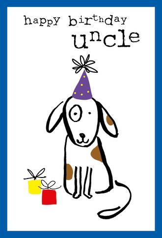 Uncle Birthday Card Doodle Happy Birthday