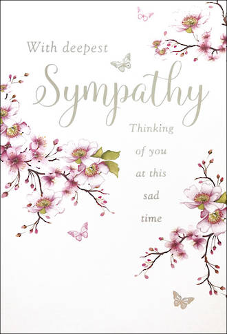 Sympathy Card Pink Flowers