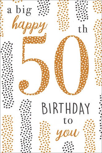 Birthday Age Card 50 General Small Dots